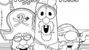 Printable veggie tales pirates coloring pages for preschool