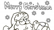 Printable santa claus christmas wish list coloring pages
