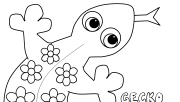 Gecko coloring pages prin…
