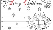 kids christmas advent wreath candles cards to color in