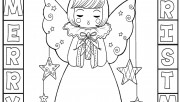 Printable cute angel chir…