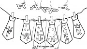 Print out father day ties coloring pages for kids