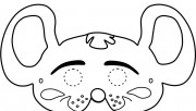 Printable mouse mask coloring in mask for kids