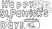 Happy St. Patricks Day Coloring Pages card