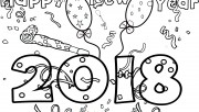 New Years 2018 coloring p…