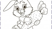 easter bunny colouring in…
