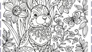 Easter bunny colouring pa…