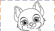fox coloring pages print out