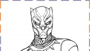 Black panther coloring pages to print