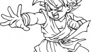 picture to color son goku…