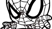 spiderman colouring pictu…