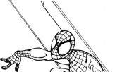 spiderman superhero coloring sheet