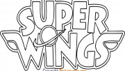 Super Wings Logo Coloring in Pages to print