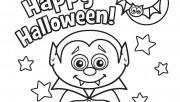 Halloween Little Vampire Printabel coloring pages