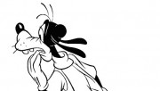Printabel Coloring pages Disney characters Goofy