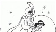 Print out Disney Characters Aladdin magic carpet coloring page