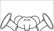 Printable coloring pages for kids Pocoyo Elly are happy