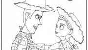 Jessie et Woody Toy Story 3  Printable Coloring Pages