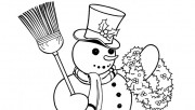 Printable Christmas snowman coloring pages for kids