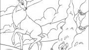 Printable Bambi Disney characters and father coloring pages