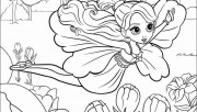 Printable for girls barbie thumbelina coloring pages