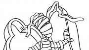 free printable halloween mummy coloring page online