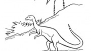 Printable Dinosaur Procompsognathus coloring pages