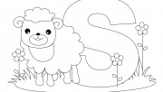 Printable Animal Alphabet worksheets Letter S is for Sheep